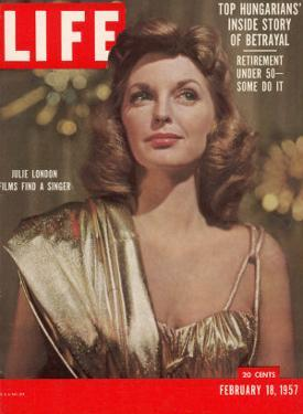 Singer Actress Julie London, February 18, 1957 by Leonard Mccombe