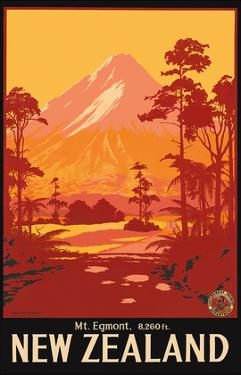 Mount Egmont (Mount Taranaki), New Zealand by Leonard Mitchell