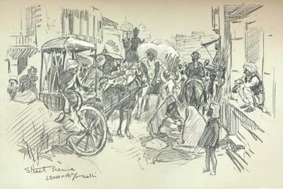 A Street Scene in Delhi, C1903
