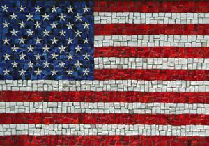 American Flag In Mosaic by Leonard Zhukovsky