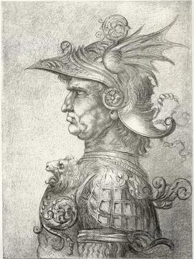 A Bust of a Warrior in Profile, 1882 by Leonardo da Vinci