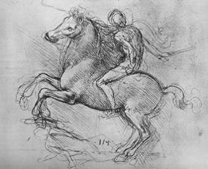 'A Horseman Trampling on a Fallen Foe', c1480 (1945) by Leonardo Da Vinci