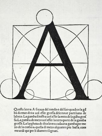 A, Illustration from 'Divina Proportione' by Luca Pacioli (C.1445-1517)