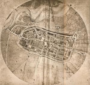 A map representing the town of Imola, Italy, c1472-c1519 (1883) by Leonardo Da Vinci