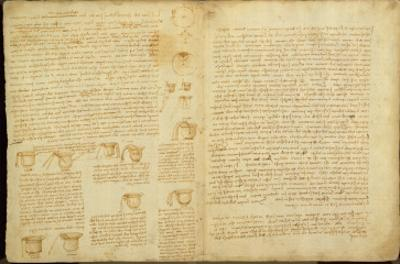 A Page from the Codex Leicester, 1508-12 by Leonardo da Vinci