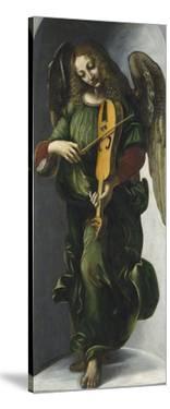 An Angel in Green with a Vielle by Leonardo Da Vinci