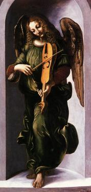An Angel with a Vielle by Leonardo da Vinci