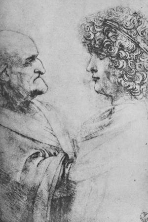 'An Old Man and a Youth Facing One Another', c1480 (1945) by Leonardo Da Vinci