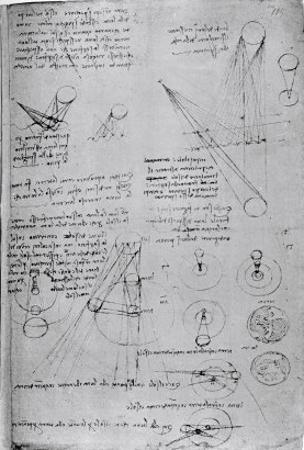 Astronomical Diagrams, from the Codex Leicester, 1508-1512 by Leonardo da Vinci