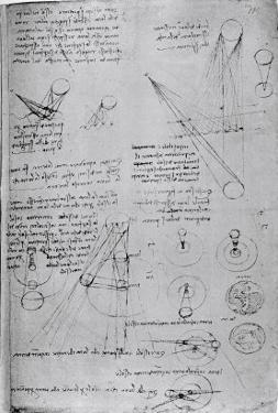 Astronomical Diagrams, from the Codex Leicester, 1508-1512 by Leonardo da Vinci