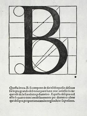 B, Illustration from 'Divina Proportione' by Luca Pacioli (C.1445-1517) by Leonardo da Vinci