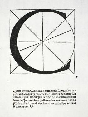 C, Illustration from 'Divina Proportione' by Luca Pacioli (C.1445-1517) by Leonardo da Vinci
