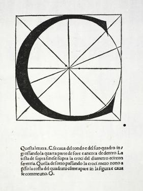 C, Illustration from 'Divina Proportione' by Luca Pacioli (C.1445-1517) by Leonardo da Vinci