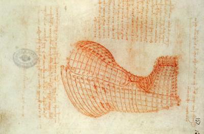 Codex Madrid 1/57-R Study for a Sculpture of a Horse by Leonardo da Vinci