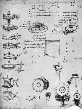 Cog Wheels (Detail), Late 15th or Early 16th Century by Leonardo da Vinci