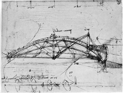 Design for a Parabolic Swing Bridge, 1480-1490