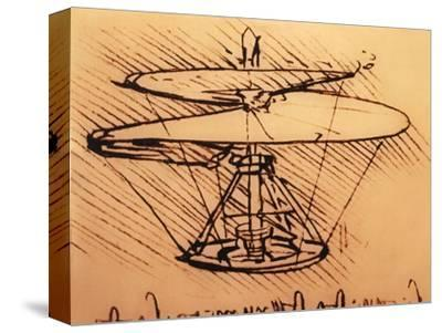 Design for Spiral Screw Enabling Vertical Flight by Leonardo da Vinci