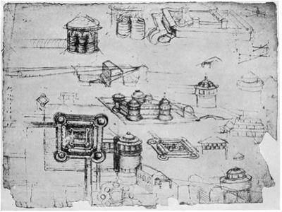Designs for a Fortress, 1500-1505 by Leonardo da Vinci