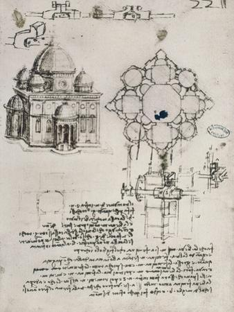 Designs for a Sacred Building and a Lock for a Chest by Leonardo da Vinci