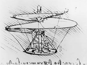 Detail of a Design For a Flying Machine, c.1488 by Leonardo da Vinci