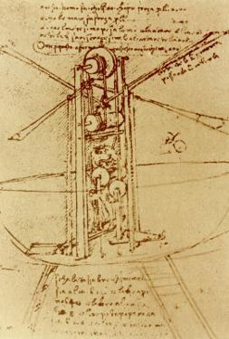 Drawing of a Flying Machine by Leonardo da Vinci