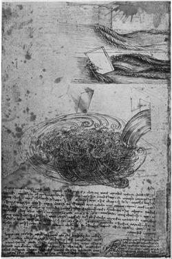 Flow of Eddies in a Waterfall, 1509-1511 by Leonardo da Vinci