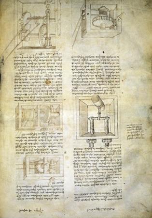 Gears, from Codex Ashburnham 361 by Leonardo da Vinci
