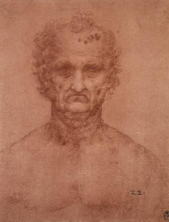 Head of an Old Man, Drawing, Royal Library, Windsor by Leonardo da Vinci
