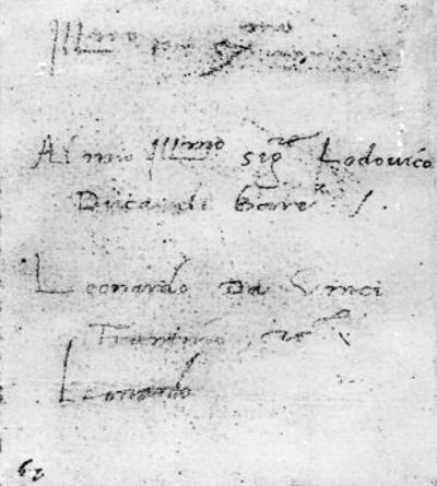 Leonardo Da Vinci's Handwriting by Leonardo da Vinci
