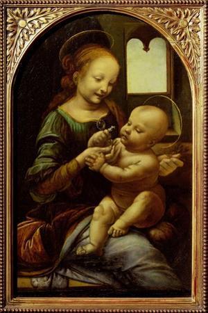 Madonna with a Flower, or Madonna Benois, C.1478 by Leonardo da Vinci