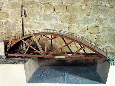 Model of a Swing Bridge Made from One of Leonardo's Drawings by Leonardo da Vinci
