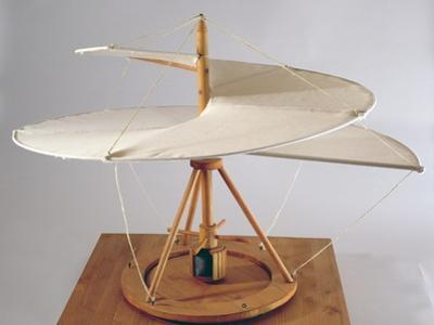 Model Reconstruction of Da Vinci's Design for an Aerial Screw by Leonardo da Vinci