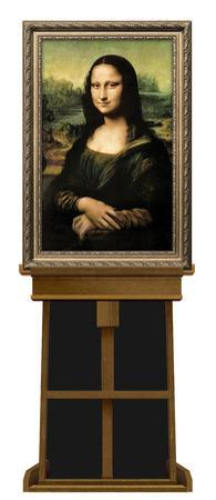 Mona Lisa by Leonardo da Vinci on Museum Easel Fine Art Lifesize Standup by Leonardo da Vinci