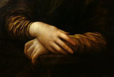 Mona Lisa, Detail of Her Hands, circa 1503-06