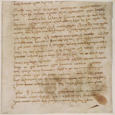 Page from a Notebook by Leonardo da Vinci