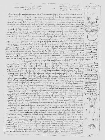 Page from the Codex Leicester, 1508-1512 by Leonardo da Vinci