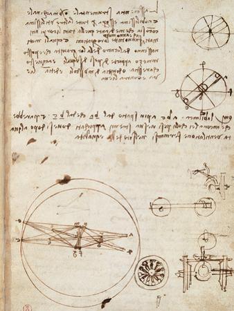 Page from the Codex Regarding the Flight of Birds by Leonardo da Vinci