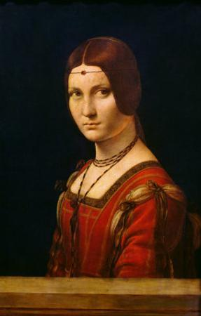 Portrait of a Lady from the Court of Milan, circa 1490-95 by Leonardo da Vinci