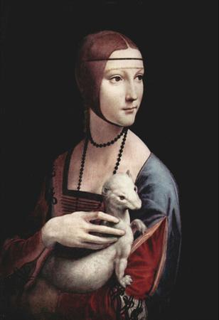 Leonardo da Vinci (Portrait of a Lady with an Ermine) Art Poster Print