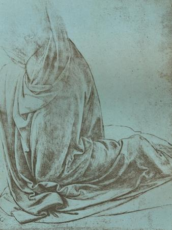 Preparatory Study of Drapery for the Angel in the Virgin of the Rocks, 1472-C1519 by Leonardo da Vinci