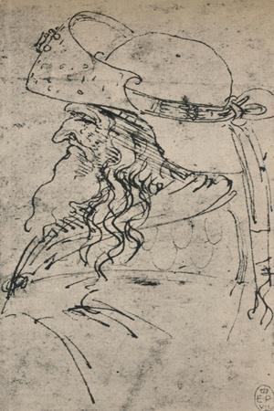 'Profile to the Left of an Old Man in a Large Hat', c1480 (1945)