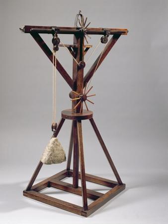 Reconstruction of Da Vinci's Design for a Slewing Crane by Leonardo da Vinci