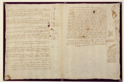 Scientific Diagrams, from the 'Codex Leicester', 1508-12 by Leonardo da Vinci