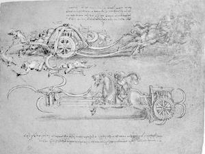 Scythed Chariot, c.1483-85 by Leonardo da Vinci