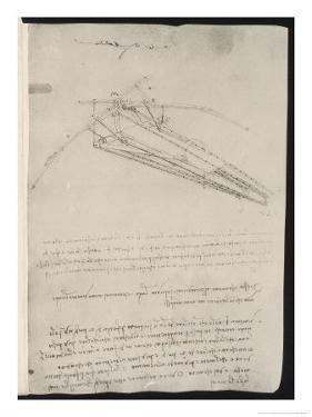 Sketch of a Design for a Flying Machine by Leonardo da Vinci