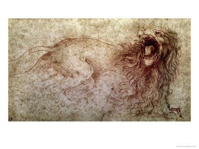 Sketch of a Roaring Lion