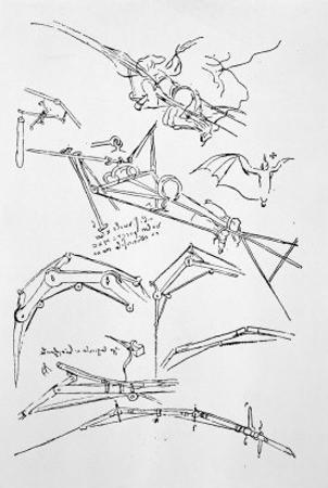 Sketches of Flying Machines by Leonardo da Vinci