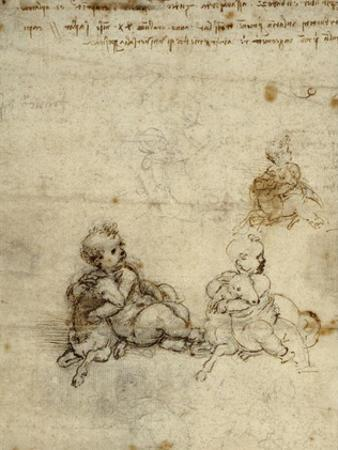 Studies for the Christ Child with a Lamb (recto)