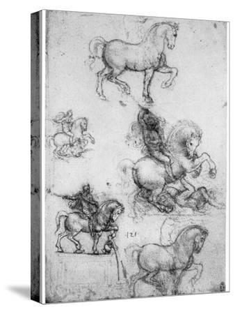 Studies for the Trivulzio Monument, C1508 by Leonardo da Vinci