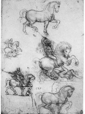 Studies for the Trivulzio Monument, C1508 by Leonardo da Vinci